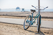 Bike Resting Along the Huntington Beach Bike Path