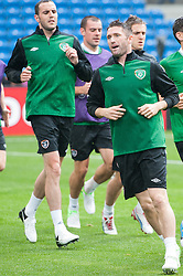 09.06.2012, Stadion Miejski, Poznan, POL, UEFA EURO 2012, Tschechische Republik, Training, im Bild JOHN O'SHEA, ROBBIE KEANE during the during EURO 2012 Trainingssession of Ireland Nationalteam, at the stadium Miejski, Poznan, Poland on 2012/06/09
