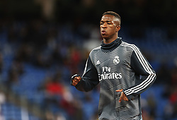 January 24, 2019 - Madrid, Madrid, Spain - Vinicius Jr (Real Madrid) seen warming up before the Copa del Rey Round of quarter-final first leg match between Real Madrid CF and Girona FC at the Santiago Bernabeu Stadium in Madrid, Spain. (Credit Image: © Manu Reino/SOPA Images via ZUMA Wire)
