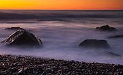 Sunset over Tasman Sea from Gillespies Beach, West Coast, New Zealand