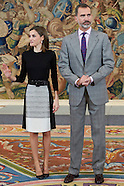 111816 Spanish Royals Attend an auidience to TVE representation