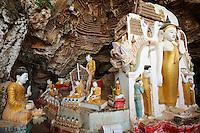 Myanmar (ex Birmanie), Province de Karen, environs de Hpa-an, grotte bouddhiste de Kawgun // Myanmar (Burma), Karen state, around Hpa-an, Kawgun buddhist cave
