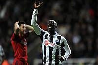 Football - Premier League -  Newcastle United vs. West Bromwich Albion<br /> Papiss Cissé (Newcastle United) celebrates the goal at St James' Park.