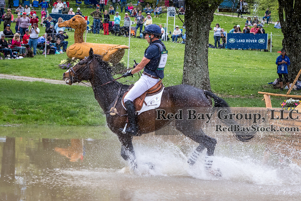 Tim Price (NZL) and Xavier Faer during the cross-country at the 2019 Land Rover Kentucky Three-Day Event presented by MARS EQUESTRIAN in Lexington, Kentucky