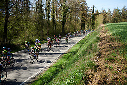 Kristabel Doebel-Hickok (USA) in the bunch at La Flèche Wallonne Femmes 2018, a 118.5 km road race starting and finishing in Huy on April 18, 2018. Photo by Sean Robinson/Velofocus.com
