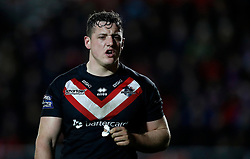 London Broncos' Matt Gee in action against St Helens Saints, during the Betfred Super League match at the Totally Wicked Stadium, St Helens.