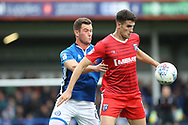Harrison McGahey looks to challenge during the EFL Sky Bet League 1 match between Rochdale and Gillingham at Spotland, Rochdale, England on 23 September 2017. Photo by Daniel Youngs.