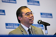 Chek F. Tang, AIA, NCARB, President or Studio T-SQUARE, talks during a panel discussion during the Silicon Valley Business Journal's Future of Fremont event at Fremont Marriott Silicon Valley in Fremont, California, on June 18, 2019.  (Stan Olszewski for Silicon Valley Business Journal)