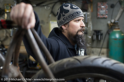 Shop visit to Led Sled Customs. Dayton, OH, USA. February 7, 2012.  Photography ©2012 Michael Lichter.
