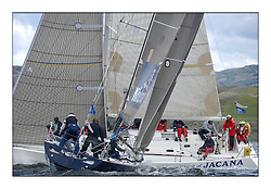 Sailing - The 2007 Bell Lawrie Scottish Series hosted by the Clyde Cruising Club, Tarbert, Loch Fyne..The final days racing had cold steady Northerly breeze to decide the overall placings...Class 1 GBR8899R Team Kingspan and Spirit of Jacana.