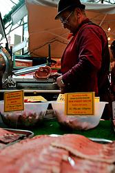 UK ENGLAND LONDON 16MAR07 - Assortment of English bacons on sale at the historic Borough Market in Southwark, London. ..jre/Photo by Jiri Rezac..© Jiri Rezac 2007..Contact: +44 (0) 7050 110 417.Mobile:  +44 (0) 7801 337 683.Office:  +44 (0) 20 8968 9635..Email:   jiri@jirirezac.com.Web:    www.jirirezac.com..© All images Jiri Rezac 2007 - All rights reserved.