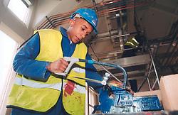 Trainee/ apprentice on NG Bailey building site, Modern apprenticeship scheme