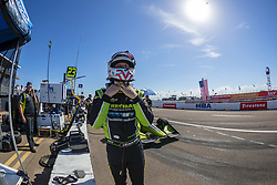 March 9, 2019 - St. Petersburg, Florida, U.S. - CHARLIE KIMBALL (23) of the United States prepares for a practice session for the Firestone Grand Prix of St. Petersburg at The Temporary Waterfront Street Course in St. Petersburg Florida. (Credit Image: © Walter G Arce Sr Asp Inc/ASP)