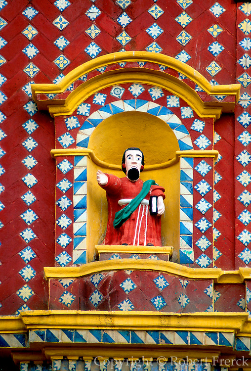 MEXICO, COLONIAL CITIES Santa Maria Tonantzintla; tiles