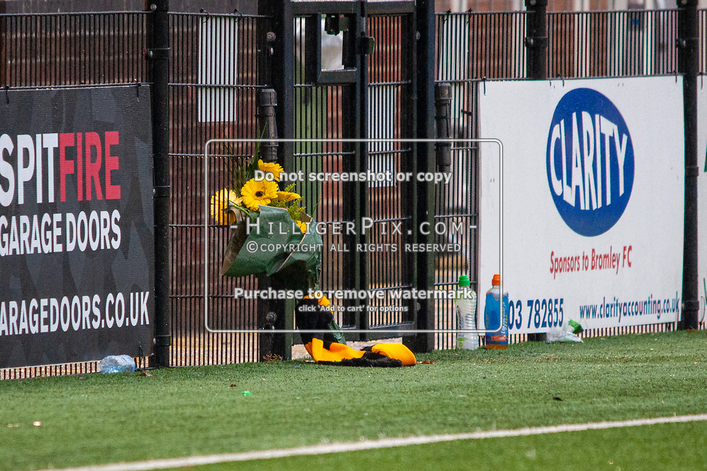 BROMLEY, UK - NOVEMBER 09: The BetVictor Isthmian Premier League match between Cray Wanderers and Cheshunt at Hayes Lane on November 9, 2019 in Bromley, UK. <br /> (Photo: Jon Hilliger)