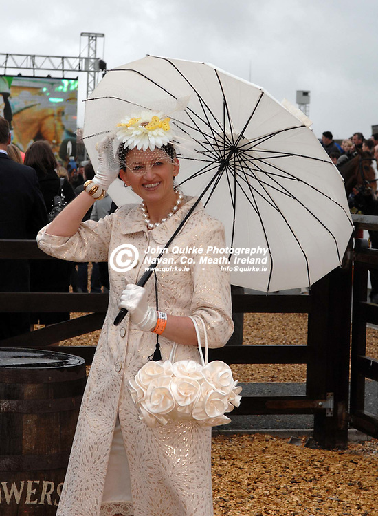 13-04-09. Fairyhouse Races - The Powers Irish Whiskey Irish Grand National.<br /> Trish Moore, Navan, winner of the Most Stylish Lady Competition.<br /> Photo: John Quirke / www.quirke.ie<br /> ©John Quirke Photography, Unit 17, Blackcastle Shopping Cte.<br /> Navan. Co. Meath. 046-9079044 / 087-2579454.