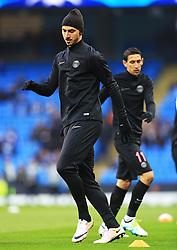 Zlatan Ibrahimovic of Paris Saint-Germain warms up - Mandatory byline: Matt McNulty/JMP - 07966386802 - 12/04/2016 - FOOTBALL - Etihad Stadium -Manchester,England - Manchester City v Paris Saint-Germain - UEFA Champions League - Quarter Final Second Leg