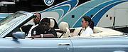 Sean Puffy Combs & Emma Heming.Bad Boy vs. Rocafella Baseball Game.To benefit disadvantaged kids.Stony Park.Easthampton, NY.July 4th, 2001.Photo by Celebrityvibe.com..