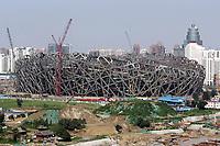 Blick auf das in Bau befindliche Olympia Stadion. © Urs Bucher/EQ Images