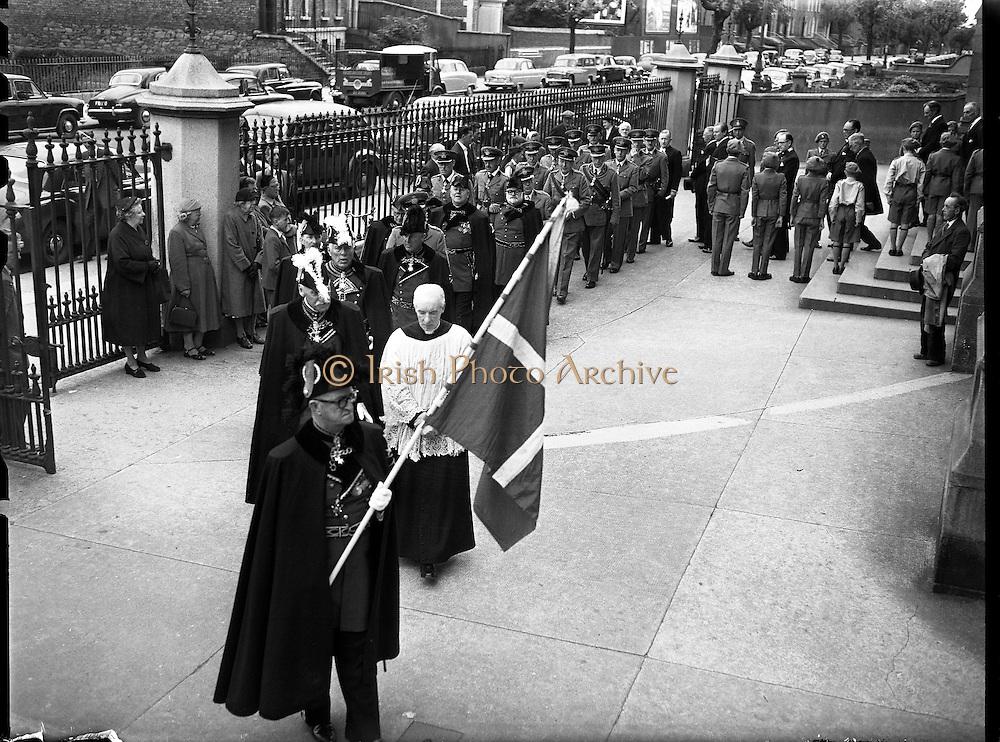 Order of Malta at Mass at St. Mary's Church, Haddington Rd.24/06/57