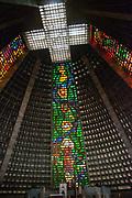 Metropolitan Cathedral Saint Sebastian, interior view, Central, Rio de Janeiro.