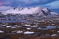 Fannaråki and autumn snow on Sognefjellet mountains, Sogn og Fjordane, Norway