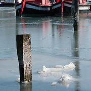 Frozen Venice Lagoon