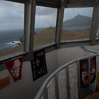 View of Cape Horn Memorial from lighthouse at southernmost tip of South America.