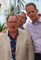Producer Jonas Rivera, John Lasseter and Director Pete DocterInside Out film photo call at the 68th Cannes Film Festival Monday May 18th 2015, Cannes, France.