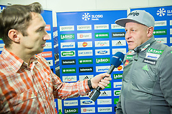 Damjan Medica of Planet TV and Goran Janus during press conference of Slovenian Ski Jumping team before World Championship in Kulm, on January 12, 2016 in Geoplin, Ljubljana, Slovenia. Photo by Vid Ponikvar / Sportida