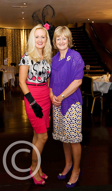"""Aoife Killeen Clarenbridge and Patricia Melville, Oranmore, at the Hotel Meyrick """"Bubbles & Delights"""" Fashion Soiree in aid of Childline ISPCC, where guests were treated to a race themed fashion showcase by Galway's leading boutiques & outlets"""". Photo:Andrew Downes"""
