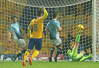 Danny Rose of Mansfield Town scores the winning goal in injury time<br /> <br /> Photographer James Williamson/CameraSport<br /> <br /> The EFL Sky Bet League Two - Mansfield Town v Blackpool - Tuesday 22nd November 2016 - One Call Stadium - Mansfield<br /> <br /> World Copyright © 2016 CameraSport. All rights reserved. 43 Linden Ave. Countesthorpe. Leicester. England. LE8 5PG - Tel: +44 (0) 116 277 4147 - admin@camerasport.com - www.camerasport.com