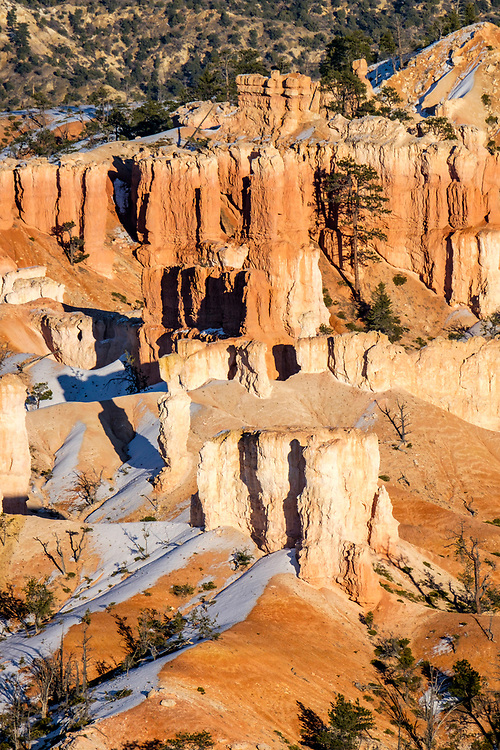 Hoodoos are the main attraction here in Bryce Canyon.