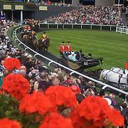 HRH Queen Elizabeth II  arrives at Royal Ascot Race Course, Ascot, UK, on Thursday, June 18, 2009. Photo Tim Clayton.