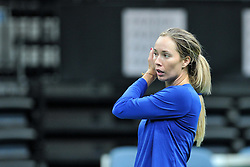 November 8, 2018 - Prague, Czech Republic - Danielle Rose Collins of the United States during practice ahead of the 2018 Fed Cup Final between the Czech Republic and the United States of America in Prague in the Czech Republic. The Czech Republic will face United States in the Tennis Fed Cup World Group on 10 and 11 November 2018. (Credit Image: © Slavek Ruta/ZUMA Wire)