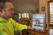 John Haugland talks about his past Chesapeake Bay Retrievers at his home in Stacy, Minnesota.