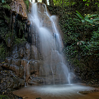 Mae Sawan Noi Waterfall. located in Mae Hoh (or Mae Haw), Amphur Mae Sariang, Mae Hong Son, Thailand. This 5 tier waterfall is located in the hills close to Mae Sariang.