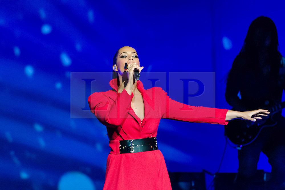 """© Licensed to London News Pictures. 08/05/2013. London, UK.   Leona Lewis performing live at Royal Albert Hall  to promote her third album """"Glassheart"""".  Leona Louise Lewis is a British singer and songwriter who first came to prominence after winning the third series of The X Factor in 2006.   FOR EDITORIAL USE ONLY.  Photo credit : Richard Isaac/LNP"""