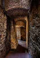 SAN GIMIGNANO, ITALY - CIRCA MAY 2015:  Passage in the walled city of San Gimignano in Tuscany