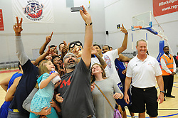The USA Select take a selfie at the end of the game - Mandatory byline: Dougie Allward/JMP - 07966 386802 - 10/09/2015 - BASKETBALL - SGS Wise Arena - Bristol, England - Bristol Flyers v USA Select.
