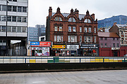 Empty A38 Bristol Street underpas at Holloway Circus in Birmingham city centre, which is virtually deserted under Coronavirus lockdown on a wet rainy afternoon on 28th April 2020 in Birmingham, England, United Kingdom. Britains second city has been in a state of redevelopment for some years now, but with many outdated architectural remnants still remaining, on a grey day, the urban landscape appears as if frozen in time. Coronavirus or Covid-19 is a new respiratory illness that has not previously been seen in humans. While much or Europe has been placed into lockdown, the UK government has put in place more stringent rules as part of their long term strategy, and in particular social distancing.