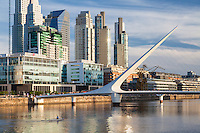 PUENTE DE LA MUJER EN PUERTO MADERO, CIUDAD AUTONOMA DE BUENOS AIRES, ARGENTINA (PHOTO BY © MARCO GUOLI - ALL RIGHTS RESERVED)