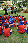 Children and teachers from the Guildford Primary School, the oldest originally located, continually running school in Australia