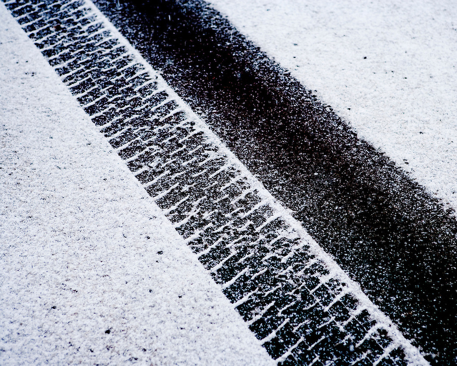 Tyre Tracks on fresh Snow