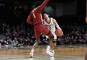 Vanderbilt Commodores guard Scotty Pippen Jr. (2) tries to get past Alabama Crimson Tide forward Herbert Jones (1) during an SEC Conference NCAA basketball game between the University of Alabama Crimson Tide and the University of Vanderbilt Commodores at Memorial Gymnasium in Nashville, TN