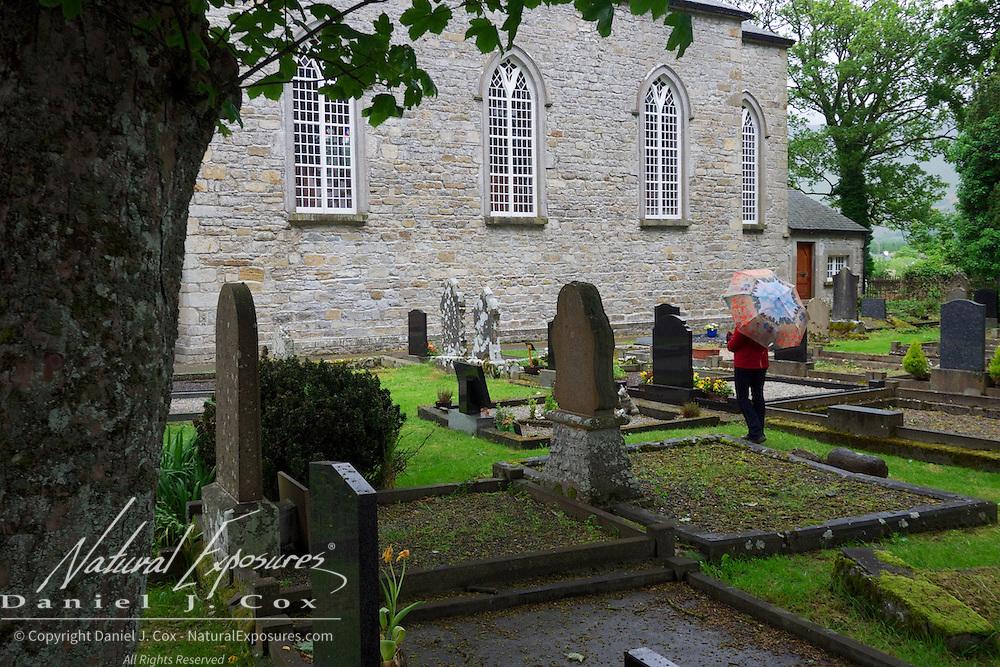 Exploring the grave yard at  Drumcliffe Church, Ireland.