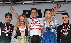 25.06.2017, Grein an der Donau, AUT, Rad Strassen Staatsmeisterschaft Elite Herren, 2017, Grein an der Donau, Oberösterreich im Bild Gregor Mühlberger (AUT, Bora - Hansgrohe) siegt in Grein // during cycling road championship, Grein an der Donau, Oberöstereich at 2017/06/25. EXPA Pictures © 2017, PhotoCredit: EXPA/ R. Eisenbauer
