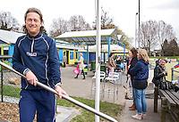 MAASSLUIS - Voorzitter Ronald Osephius. Hockeyclub Evergreen, een kleine vriendelijke laagdrempellige hockeyclub. , FOTO KOEN SUYK