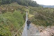 Gowan Swinging Bridge, South Island, New Zealand<br />