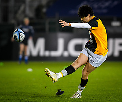 Jacob Umaga of Wasps warms up - Mandatory by-line: Andy Watts/JMP - 08/01/2021 - RUGBY - Recreation Ground - Bath, England - Bath Rugby v Wasps - Gallagher Premiership Rugby